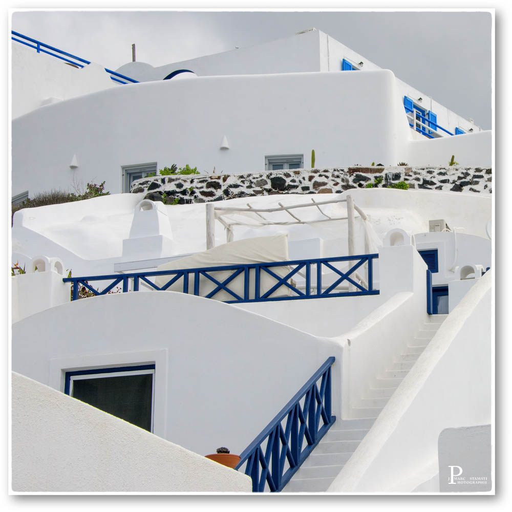 Grèce en blanc et bleu