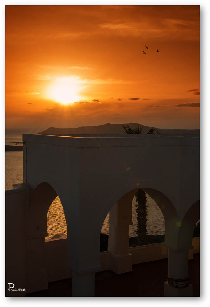 coucher de soleil grece Fira