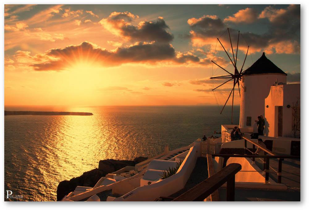 Oia coucher de soleil cyclades