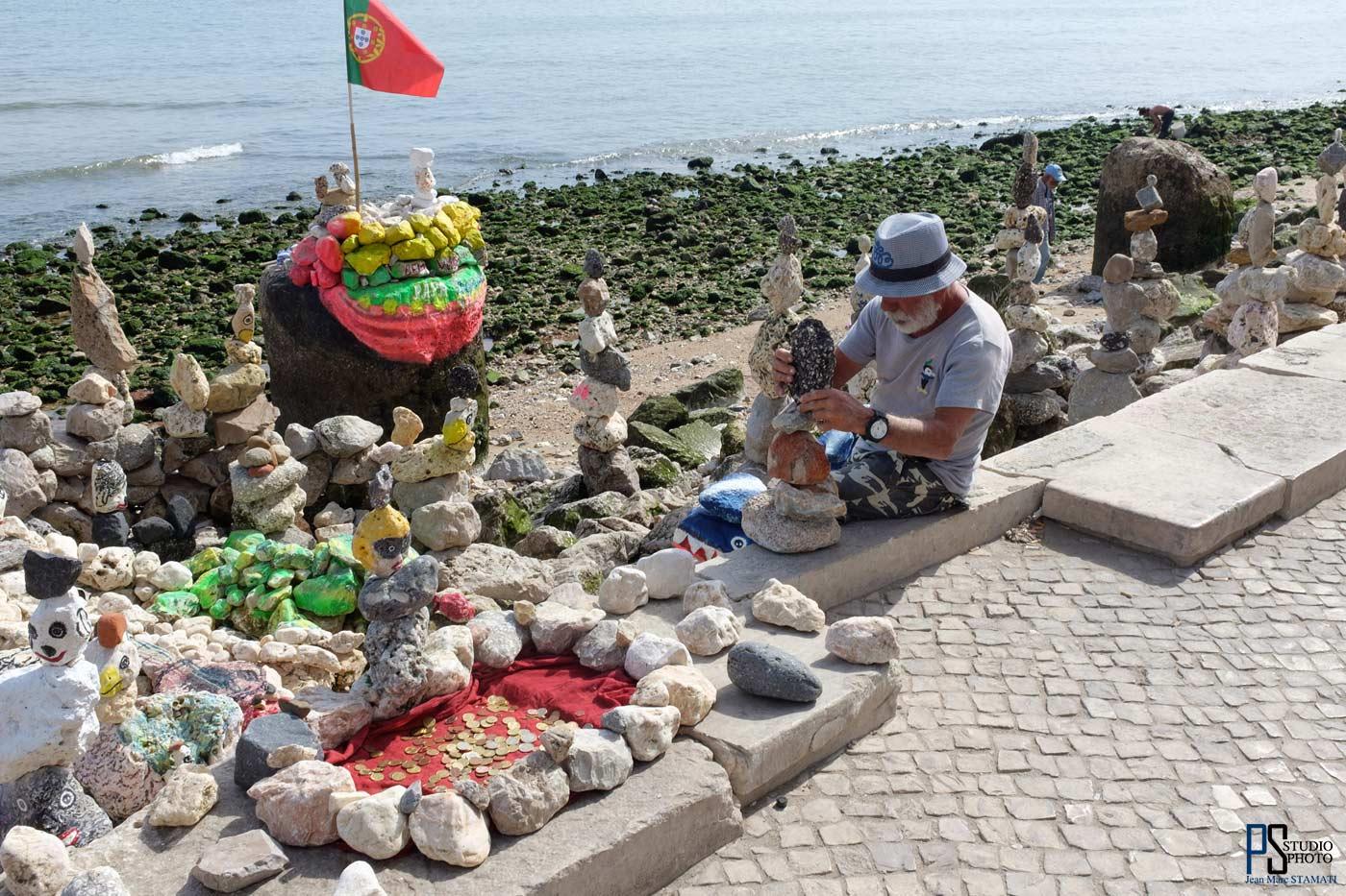 Lisbonne Sculpteur le long du Tage