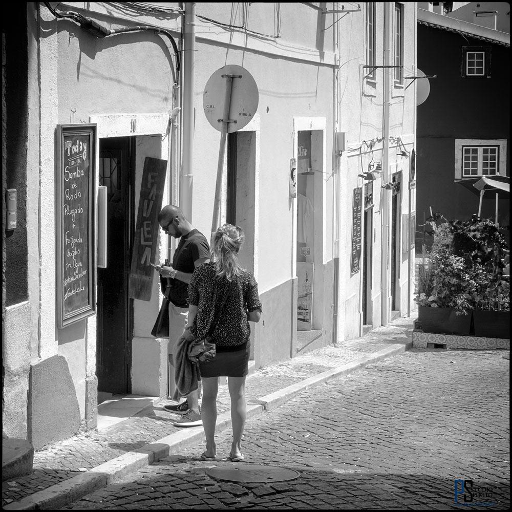 Lisbonne photos en noir et blanc