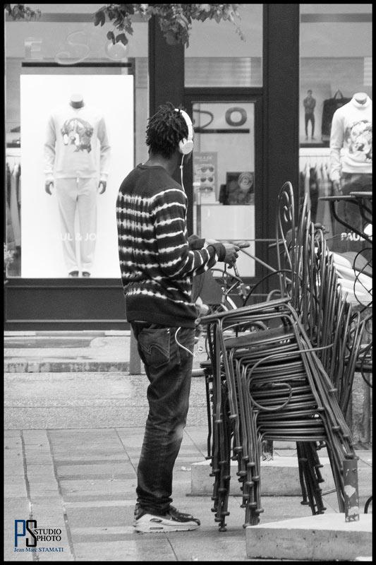 Lyon centre photo noir et blanc